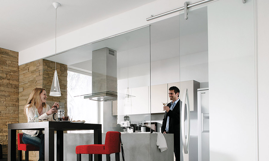 Glas-Innenbereich-Küche - Wohnen verbinden