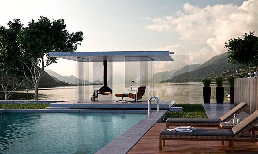 Glas-Aussenbereich - Glas Wohnpavillon