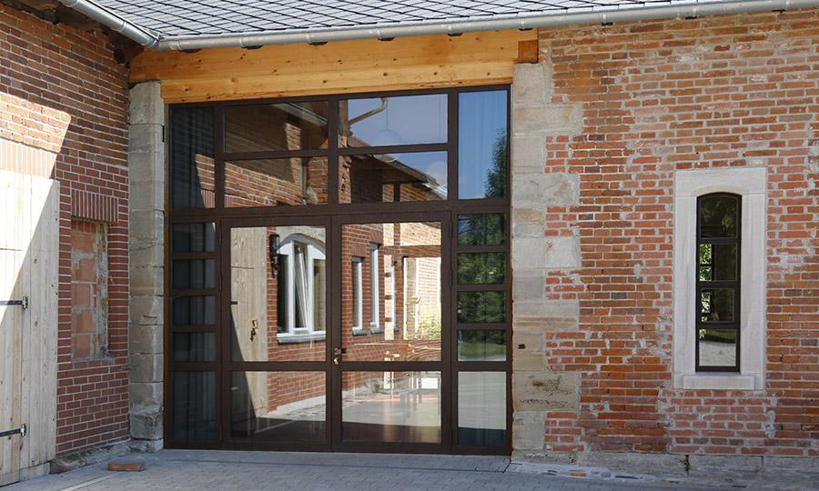 Denkmalschutzfenster Waldorfschule Coburg Innenhof