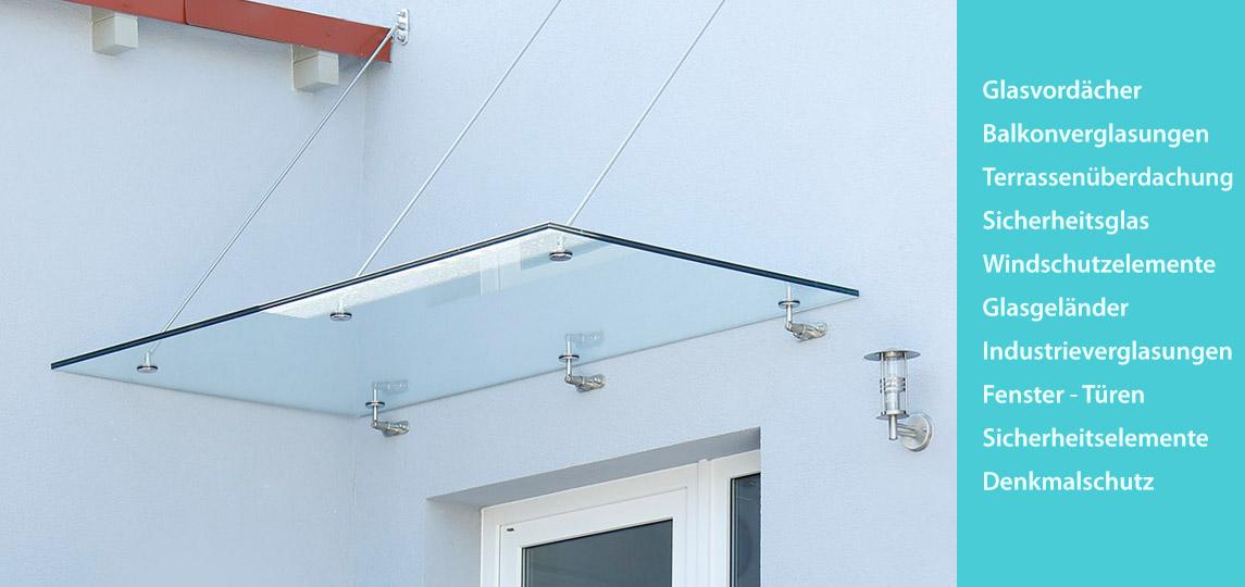 Glaserei Späth, Vordach Mehrfamilienhaus